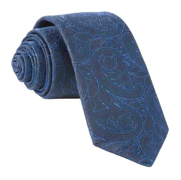 Paisley Fortune Navy Tie