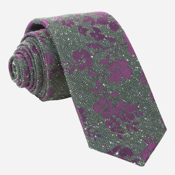 Onyx Floral Hunter Green Tie