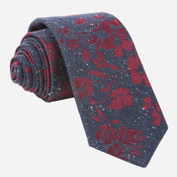 Onyx Floral Navy Tie