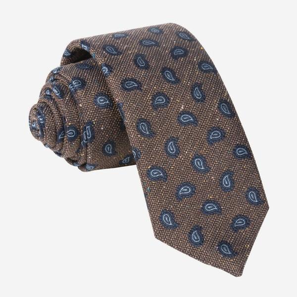 Darren Paisley Brown Tie