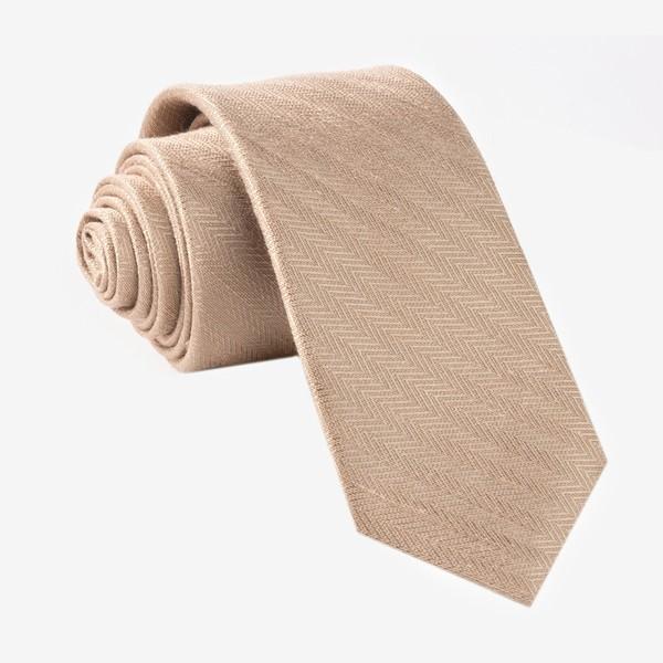 Alleavitch Herringbone Khaki Tie
