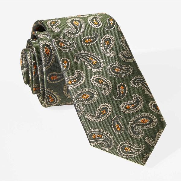 Cooper Paisley Olive Tie