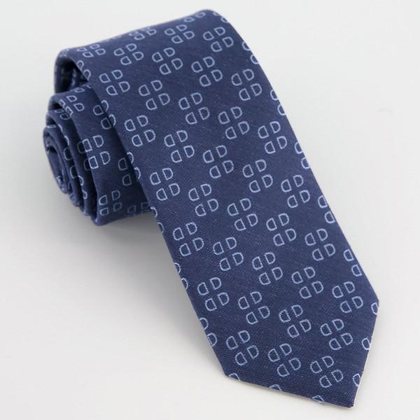 Monogram Navy D Tie