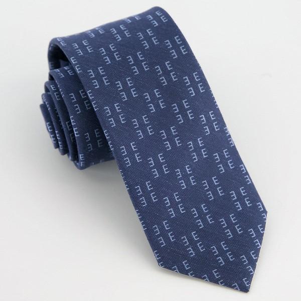 Monogram Navy E Tie