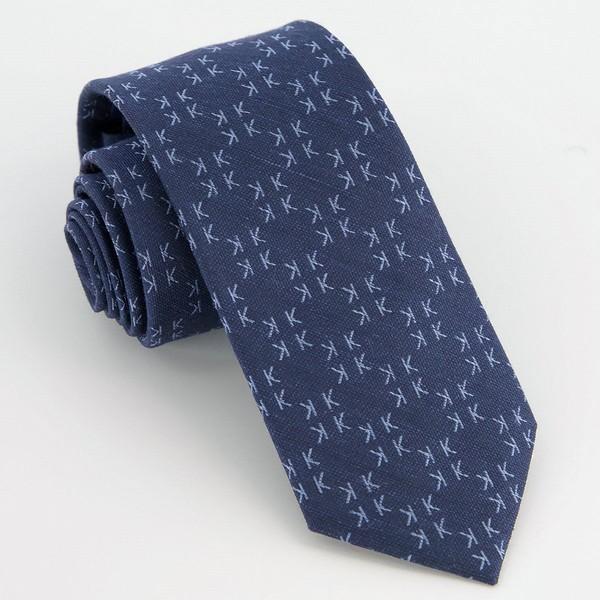 Monogram Navy K Tie