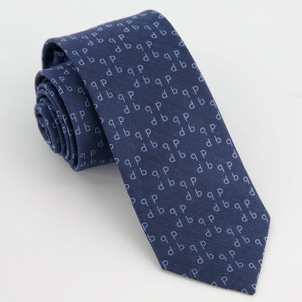 Monogram Navy P Tie