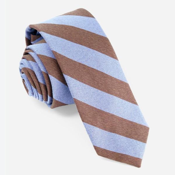 Textured Double Stripe Serene Blue Tie