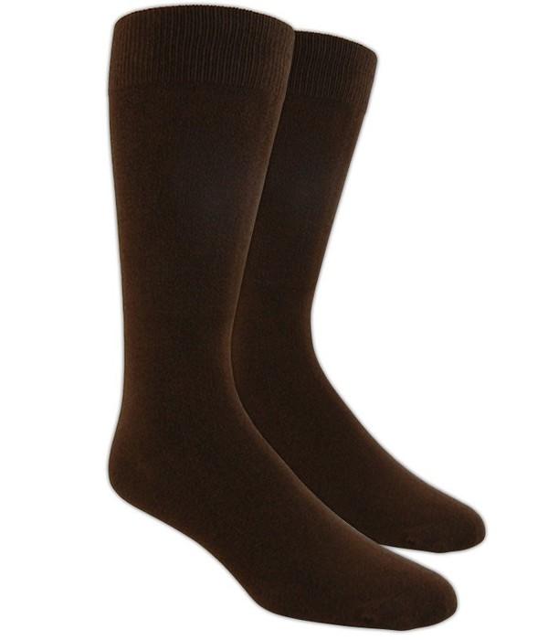 Solid Brown Dress Socks