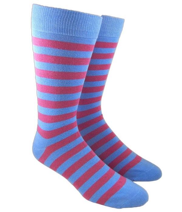 Twill Stripe Powder Dress Socks