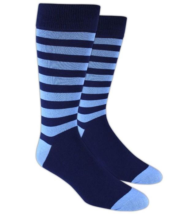 Sportsmen Stripe Blue Dress Socks