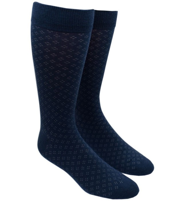 Speckled Navy Dress Socks