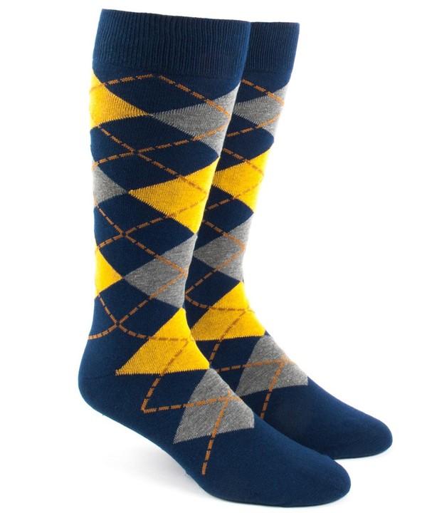 Argyle Yellow Dress Socks