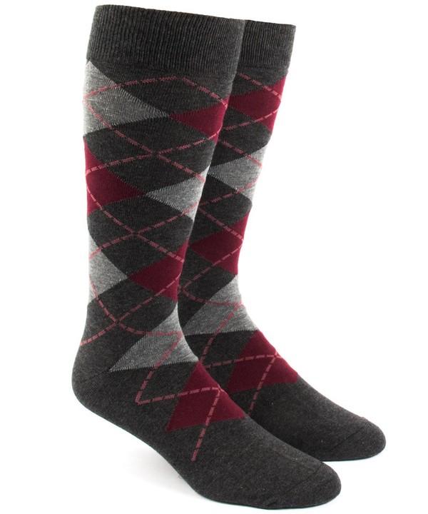 Argyle Reds Dress Socks