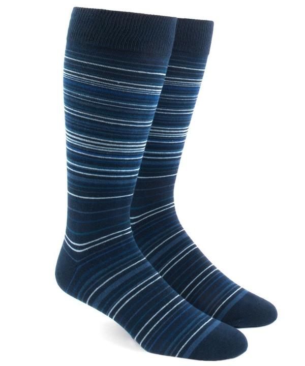 Multistripe Blues Dress Socks