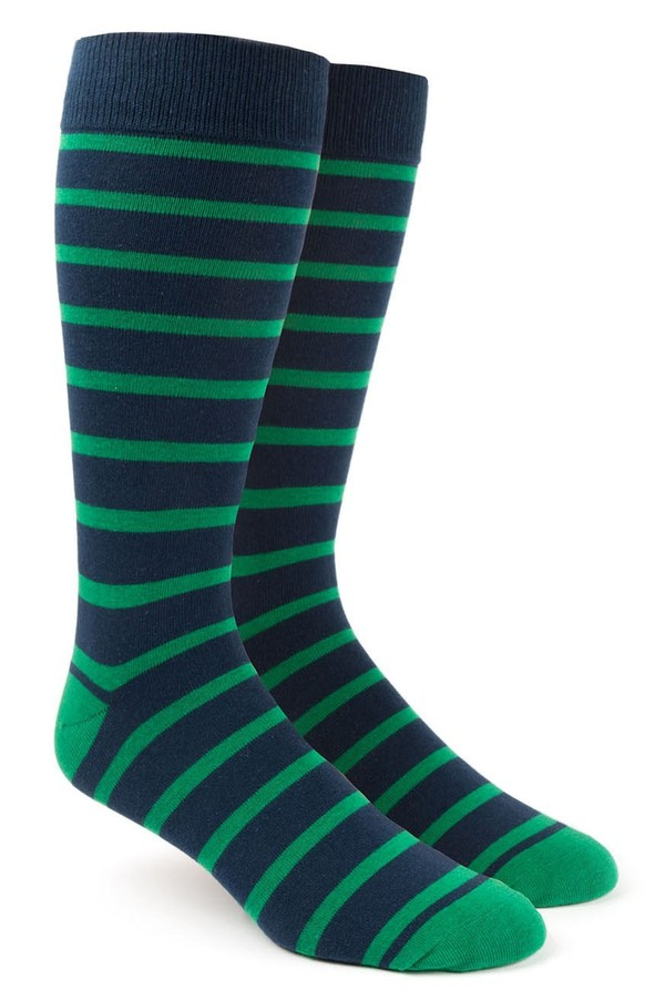 Trad Stripe Kelly Green Dress Socks