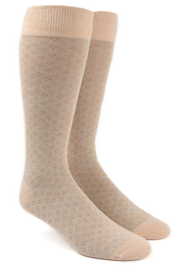 Speckled Khaki Dress Socks