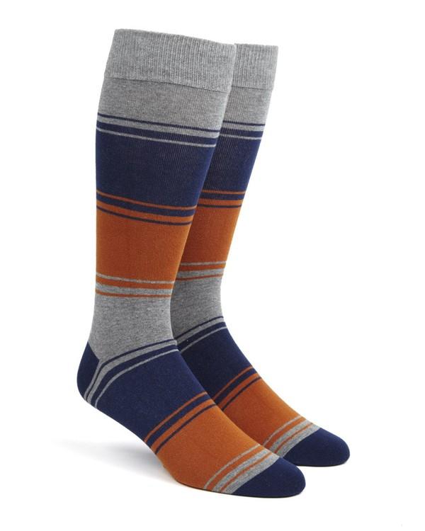 Alt Stripe Orange Dress Socks