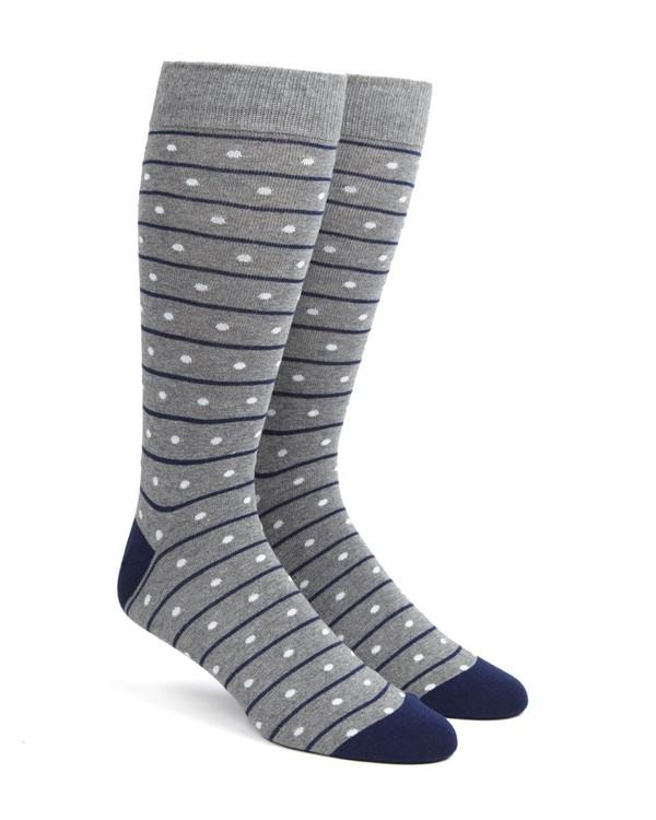 Ringside Dots Grey Dress Socks