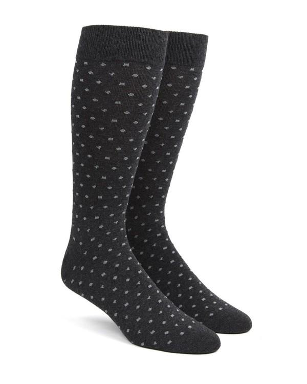 Confetti Charcoal Dress Socks