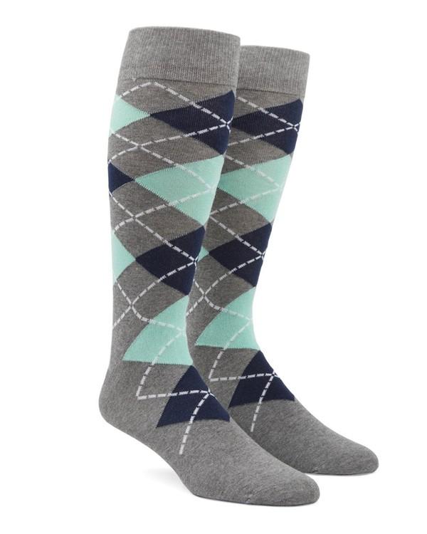 Argyle Mint Dress Socks