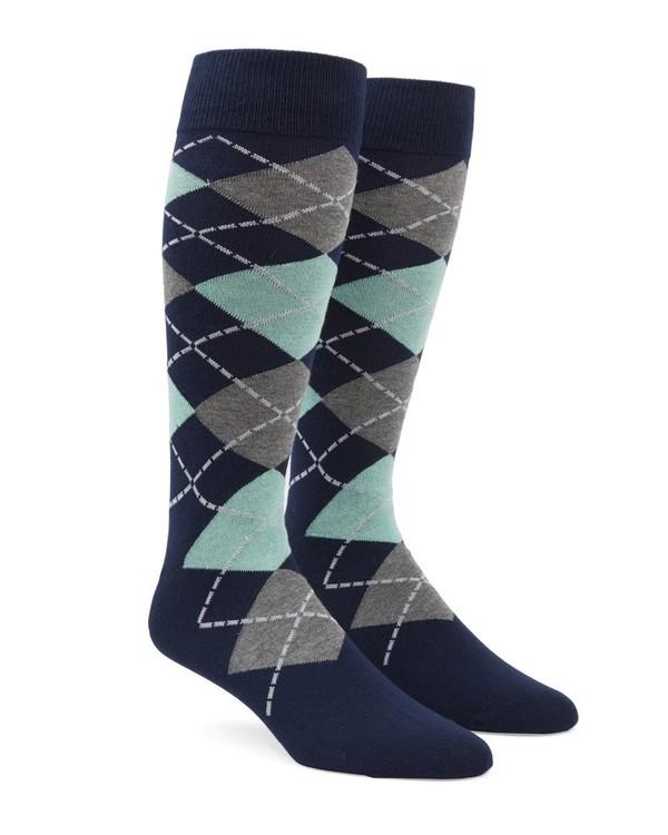 Argyle Spearmint Dress Socks