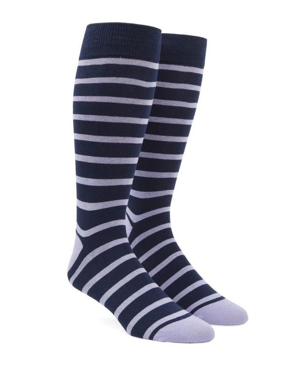 Trad Stripe Lilac Dress Socks