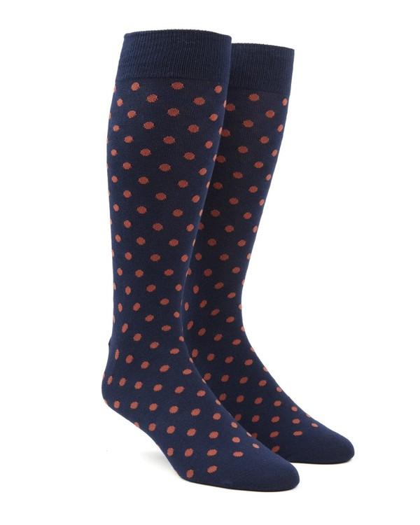 Circuit Dots Persimmon Red Dress Socks
