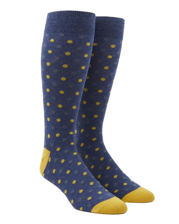 Jpl Dots Navy Dress Socks