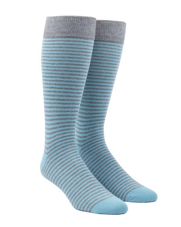 Thin Stripes Aqua Dress Socks