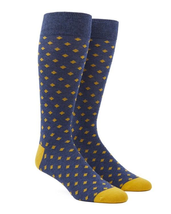 Diamonds Yellow Gold Dress Socks