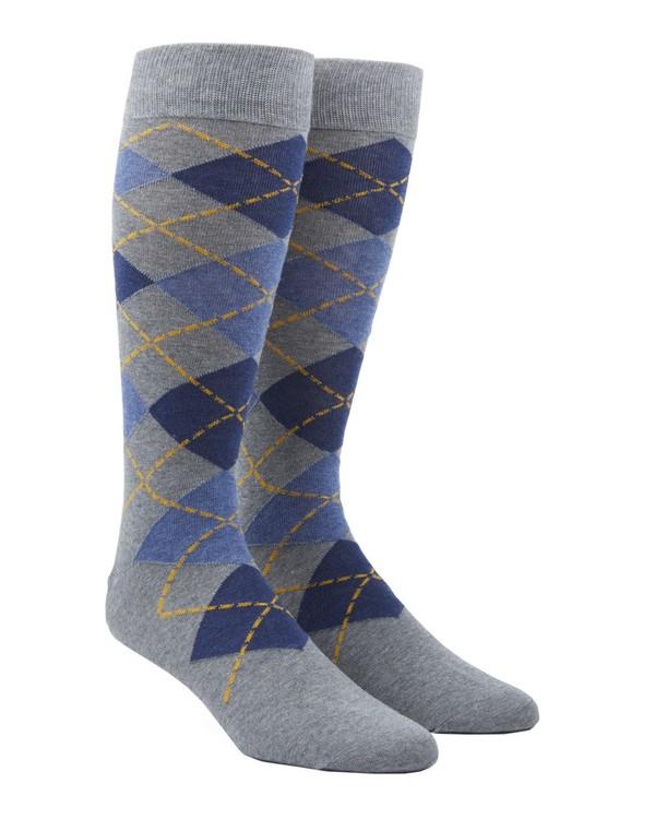 Argyle Blues Dress Socks