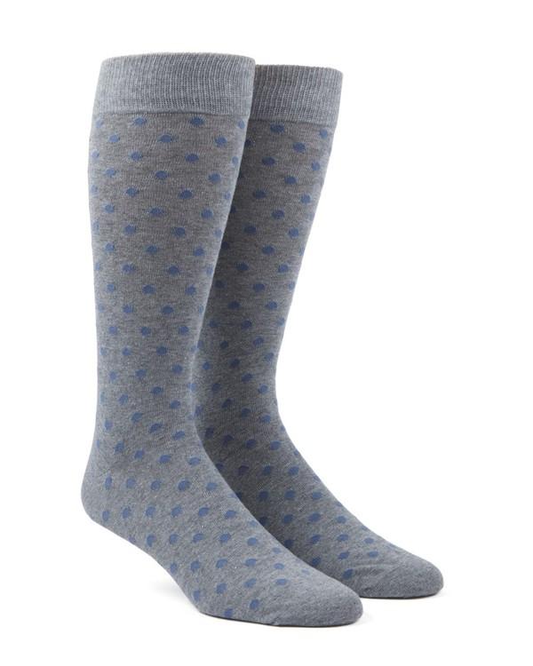 Circuit Dots Slate Blue Dress Socks