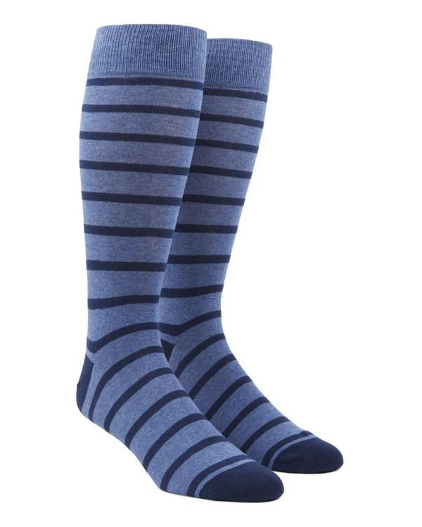 Trad Stripe Blues Dress Socks