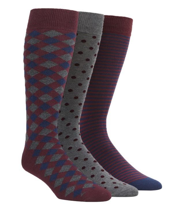 The Burgundy Sock Pack Dress Socks