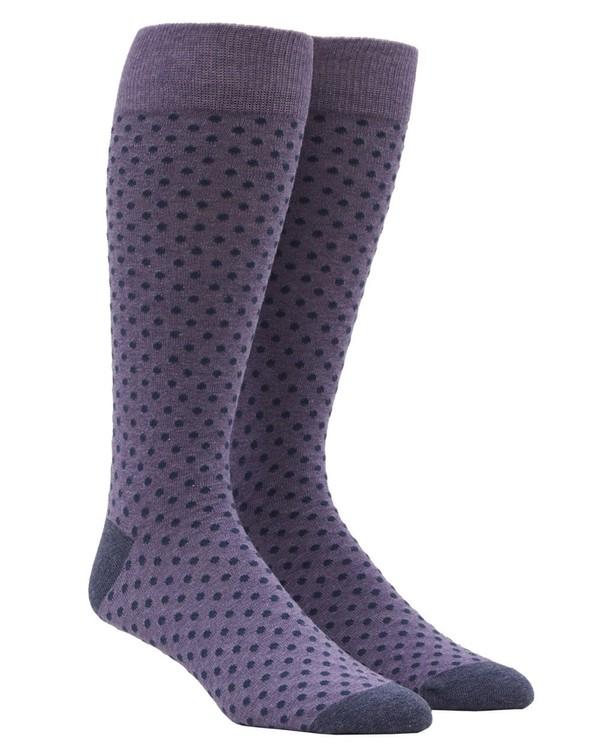 Pindot Lavender Dress Socks