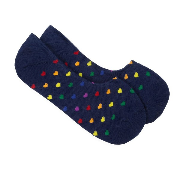 The Equality No-Show Navy Dress Socks