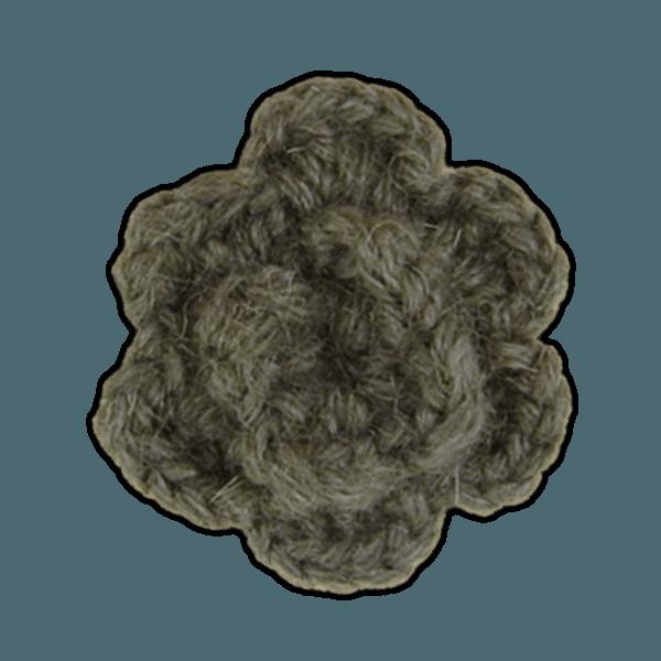 Charcoal Lapel Flower