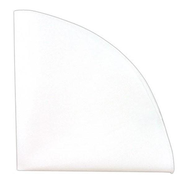 White Cotton Round With Border Pocket Square