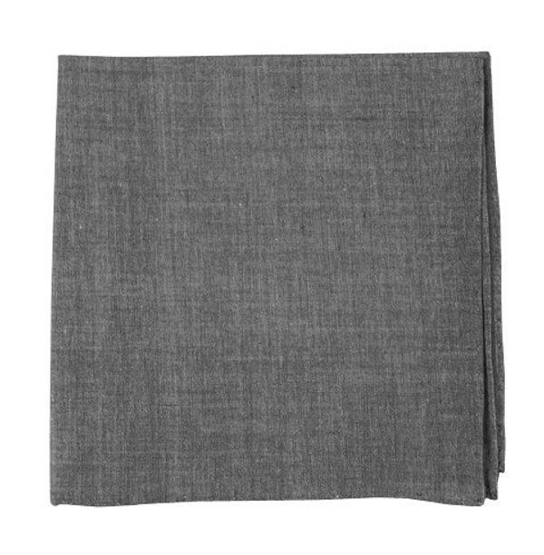 Classic Chambray Soft Grey Pocket Square