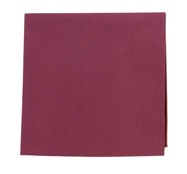Solid Cotton Wine Pocket Square