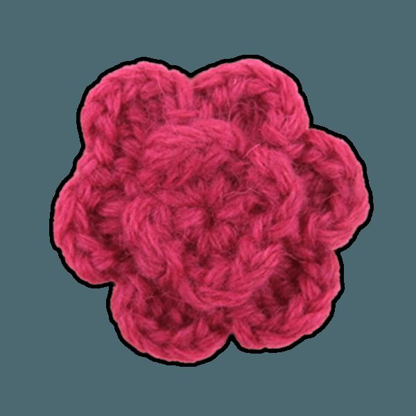 Colored Lapel Flower Fuchsia Lapel Flower Pin
