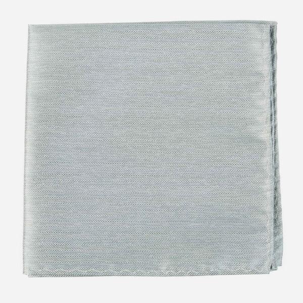 Mumu Weddings - Desert Solid Silver Sage Pocket Square
