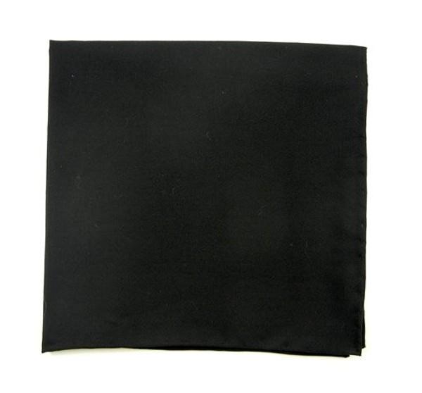 Solid Cotton Black Pocket Square