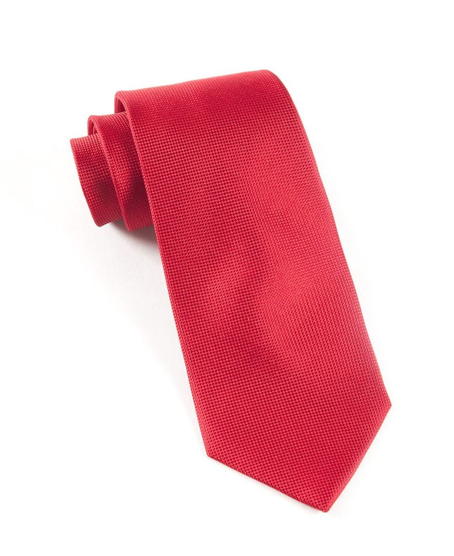 Solid Texture Red Tie