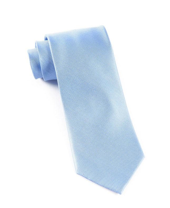 Solid Texture Light Cornflower Tie
