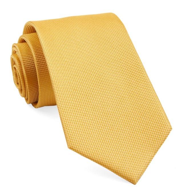 Solid Texture Marigold Tie