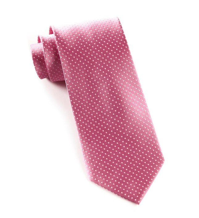 Pindot Pink Tie