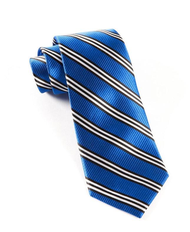Bar Stripes Royal Blue Tie