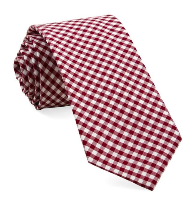 Novel Gingham Red Tie