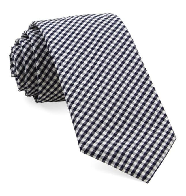 Petite Gingham Navy Tie